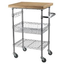 kitchen utility table best of bamboo top chrome wire kitchen cart
