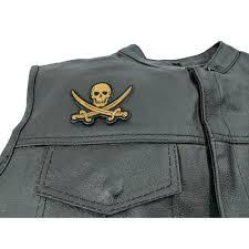 pirate sword skull patch