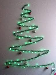 chic and creative tree made of lights light strings out on