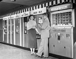 A Vending Machine Dispenses Coffee Into Beauteous Vending Machines In The US Once Dispensed More Than Chips And
