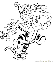 Small Picture 7 Stmas Disney Coloring Pages 3 Coloring Page Free Tiger