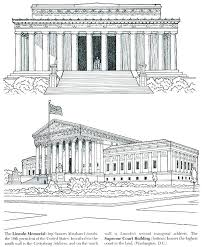 lincoln memorial colorin cute lincoln memorial coloring page