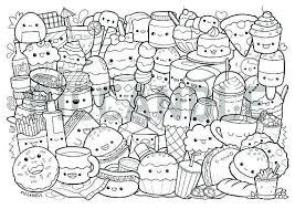 Kawaii Food Coloring Pages Lovely How To Draw Kawaii Food Easy Step