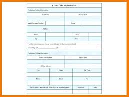 Credit Card Authorization Form Template Pdf 9 – Appnews