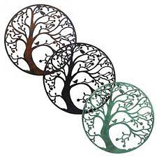 >metal tree art ebay large 58cm metal tree of life circle wall art sculpture for home or garden