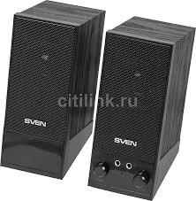 Купить <b>Колонки SVEN SPS</b>-<b>604</b>, 2.0, черный в интернет-магазине ...
