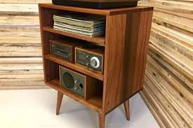 turntable furniture. Record Stand Table Turntable Furniture New Mid Century Modern Player Console