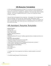 Hr Assistant Resume Human Resources Assistant Resume Sample Hr Assistant Resume Sample