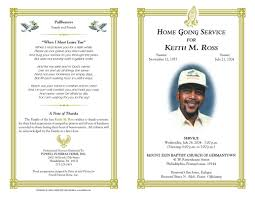 Funeral Program Template Free Download Photo Funeral