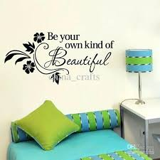 diy canvas word wall art living room es coma studio be own kind of beautiful stickers