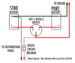 batteries schematic diagram dual battery single
