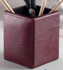 bonded leather desk set 6 piece pink. Deluxe Top Grain Leather Seven Piece Desk Organiser Set Bonded 6 Pink