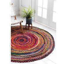 3 3 x 3 3 braided chindi round rug