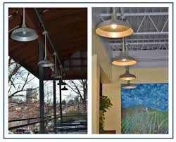 rustic galvanized barn lights for earthy organic grocery