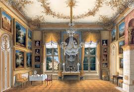 the yellow salon of queen louise of prussia in the city palace potsdam c