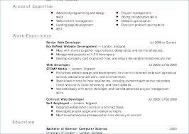 Web Developer Resume Objective Self Employed Resume Template