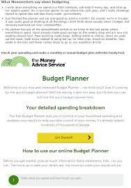 Quick Budget Tool Budget Planner Syndication Money Advice Service