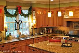 kitchen counter decorating ideas modern decor my noel hanging in the window here for tutorial