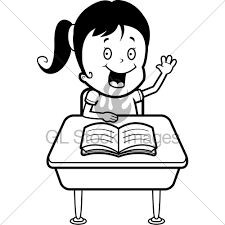 student sitting at desk drawing. Brilliant Desk A Happy Cartoon Child Student At Desk In School Throughout Sitting Drawing R