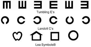 Lea Symbols Eye Chart Printable Visual Acuity