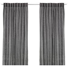AINA curtains, 1 pair, dark gray Length: 98