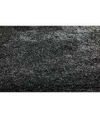 woolly black area rug