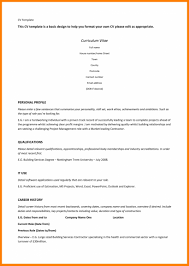 9 Resume Template For Wordpad Applicationleter Simple Resume