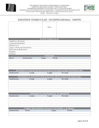 Formato De Resumen Curricular - April.onthemarch.co