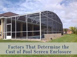 determine pool screen enclosure cost