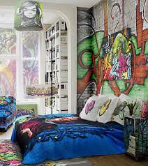 Brick Walls Decorating with Graffiti in Cool Bedroom Wall Stickers Murals  Paint Designs Ideas