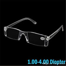 2019 New Fashion White Reading Glasses Clear Rimless Eyeglasses Presbyopia 1 00 4 00 Diopter Strength 2019040310ayq Reading Glasses Accessories