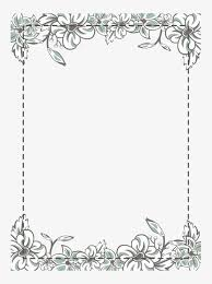 white flower frame vector material clical white flowers png and vector