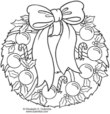 Christmas Wreath Coloring Pages Saglikme