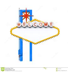 Blank Las Vegas Welcome Sign Stock Illustration