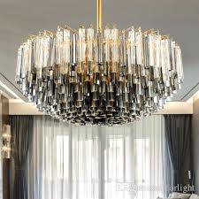 new design patented unique led crystal glass rod chandelier lights modern classical creative smoky gray special led crystal chandelier lamps pillar candle