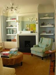 love the fireplace with shelves to each side for the