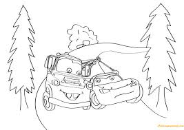 lightning mcqueen and mater drawing