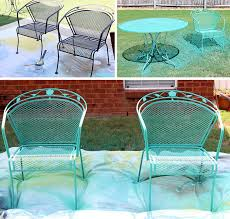 green wrought iron patio furniture. how to paint patio furniture with chalk green wrought iron