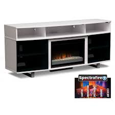 pacer 72 contemporary fireplace tv stand white