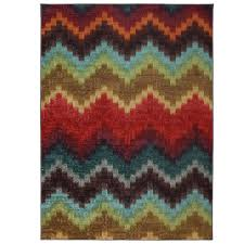 mohawk home painted zig zag multi 7 ft 6 in x 10 ft