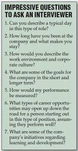 Impressive Questions To Ask An Interviewer Job Related Tips