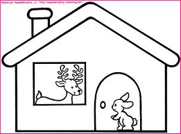 Dans Sa Maison Un Grand Cerf Coloriage Pour Illustr La Coloriage Maison Enfant L