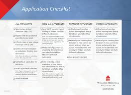 Application Checklist By William Mitchell College Of Law Issuu