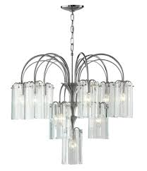beveled glass chandelier vintage panes brass 8 light hanging dining panels