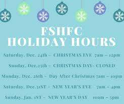 fshfc holiday hours fort sanders health and fitness center