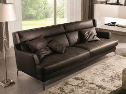 contemporary style sofa well leather sofa by cts salotti
