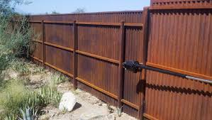 image of corrugated metal fence palm springs