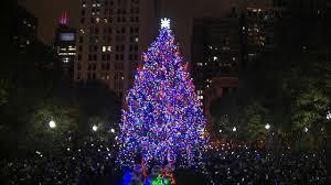 Daley Center Tree Lighting Chicago Lights Christmas Tree In Millennium Park
