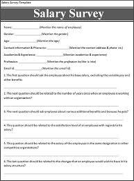 free printable survey template salary survey template free printable word templates