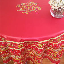 french provencal 70in round coated tablecloth